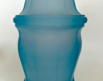 Apothacary JarVintage Blue Satin Glass