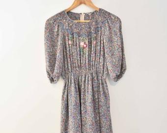 Floral Short Sleeved Dress