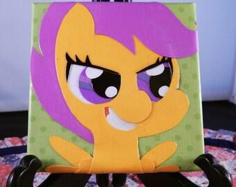 "Scootaloo Papercraft 4"" x 4"" Canvas"