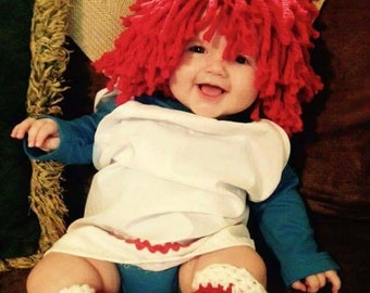 Raggedy Ann wig, baby costumes, kids costume, Halloween costume