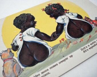 C T Chocolate Drops Comics Post Card Vintage Black Americana