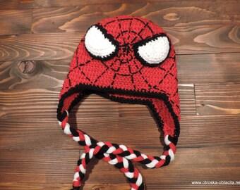Crochet hat, Spiderman,  Spiderman costume hat, newborn hat, children costume, Photo prop costume