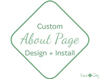 Custom About Page Design and Install | About Us Web Page | About Us Page Design | Learn More About | Our Team Page | About Us Page Template
