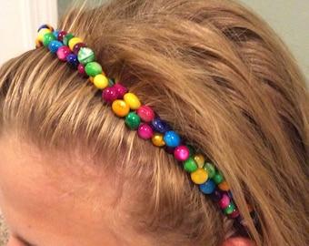 Multi-color Beaded Girl's Beaded Headband