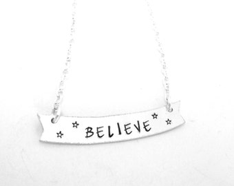 Believe Banner Necklace