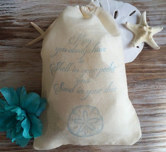 Wedding Favor Bags Beach : favor bags, beach wedding favors, sand dollar beach favor bags, beach ...