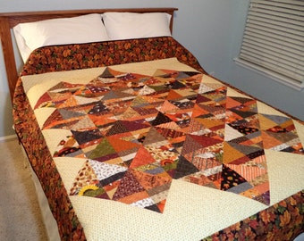 Fall Flip - a Large Sofa Quilt