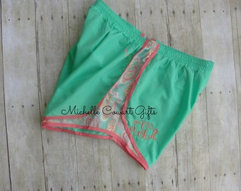 Monogrammed Running Shorts - Personalized Shorts - Bridesmaid's Gift - Cute Running Shorts - Womens Athletic Shorts - Running, Mother's Day