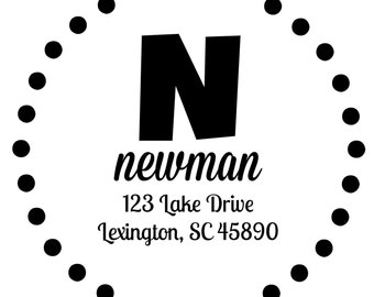 Newman Initial Stamp