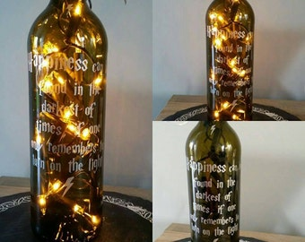 Harry Potter quote Dumbledore inspired collectible art bottle light