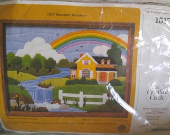 Crewel Embroidery Kit, Crewel Kit, Vintage Crewel, Vintage Needlework Kit, Creative Circle