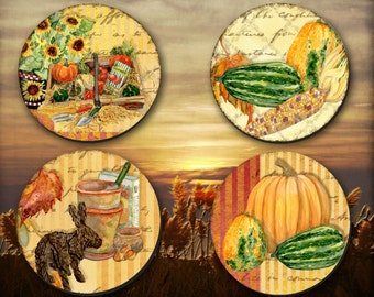 Thanksgiving Coasters, Autumn Coaster, Harvest Coloured Coaster,  ( 0021)