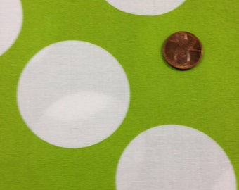 Half Moon Modern for Moda Half Yard Cut and Yardage Available White Circle on Green32357 30