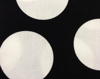 Half Moon Modern for Moda Half Yard Cut and Yardage Available White Circle on Black 32357 12