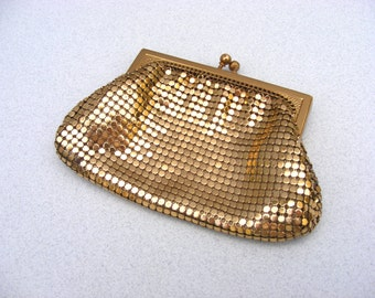 Vintage gold chain mail purse Whiting and Davis