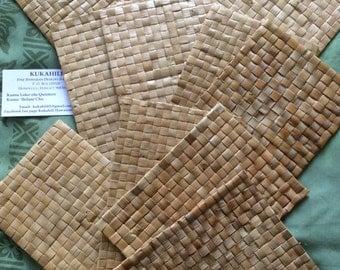 Bulk set of 12 Lauhala Coaster or tiny mats