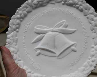 Fenton Satin Milk Glass Plate