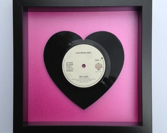 Fleetwood Mac 'Big Love' Heart Shaped Vinyl Record Art