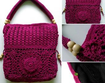 Handmade crochet handbag, crochet purse, shoulder bag, Women handbag.