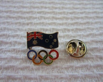 Sydney Olympic Games AOC Flag & Coloured Ring