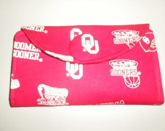 Wallet - University of Oklahoma fabric – W184