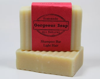 Light Hair Shampoo Bar - All Natural Shampoo, Handmade Shampoo, Homemade Shampoo, Handcrafted Shampoo