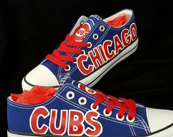 Chicago Cubs Shoes Etsy