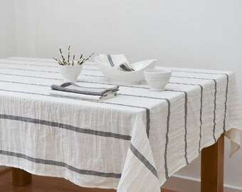 Washed Linen Tablecloth Rusne