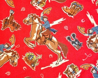 Fabric destash quilt cotton RAWHIDE by Moda fat quarter Set Cowgirl  Western quilt fabric Horses bandana OOP VHTF