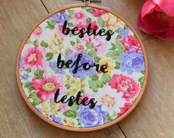 Besties Before Testes Embroidery