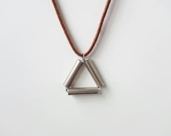 Necklace | minimal / geometric / short / handmade / gift / anti allergic