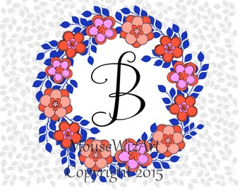 Personalized Notecard Monogram Initial Teacher Bridesmaid Gift - DAISY