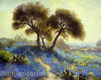 Handpainted A Spring Morning Julian Onderdonk landscape Oil Painting Reproduction for home decoration Or Gift
