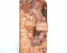 Map Printed Galaxy S6 Edge Plus Case, GalaxyS6 Edge Plus Case, S6 Edge Plus Case, Leather Galaxy S6 Edge Plus Case