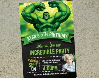 il_340x270.1031664304_ds87 hulk invitations etsy,Hulk Birthday Invitations