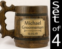 Awesome groomsmen gifts. Custom groomsmen gifts. Wooden stein. Cheap groomsman gifts. Wedding gifts from best man. Wedding gift from groom