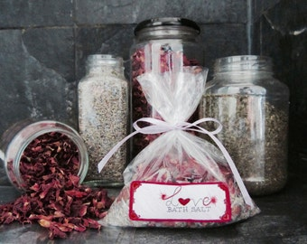 Love bath salts.This mix is specially made  for self love and to open your heart to love. Helps to attract love.