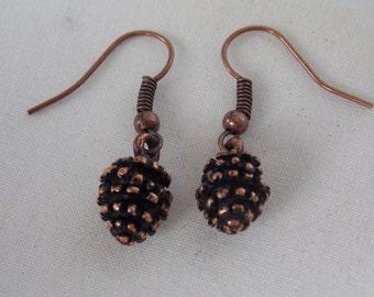 Pinecone Earrings Copper Pinecone Earrings  E46