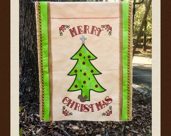 Merry Squirrely Christmas Flag