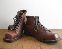 Vintage Men's/Women's Brown Leather Good-Year WingFoot Boots/Work Boots/Ski Boots...Reshopgoods