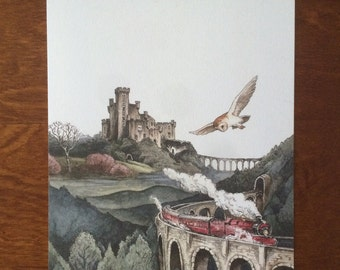 Hogwarts Express/ Scottish Landscape Art Print