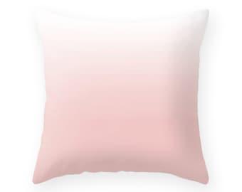 Pantone Color of the Year Rose Quartz pillow pink ombre pillow rose quartz pillow gradient pillow pink cushion gradient cushion pink pillow