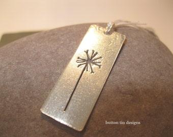 Dandelion pendant, fairy, Sterling Silver