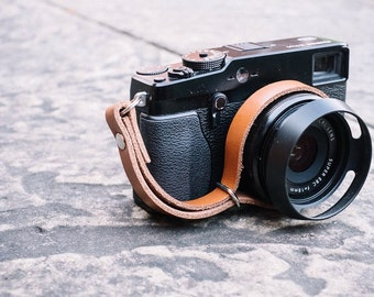 Leather Camera Wrist Strap for Mirrorless or Film Cameras | Made in England