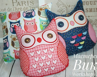 Set of 3 pillows. A set of three cushions. Pillows toys. Owls, sovushki. cushions