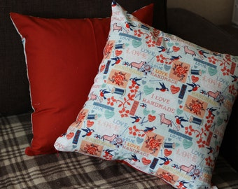 Pillowcase.  Cover the pillow. Home decor. Textile. Shabby chic