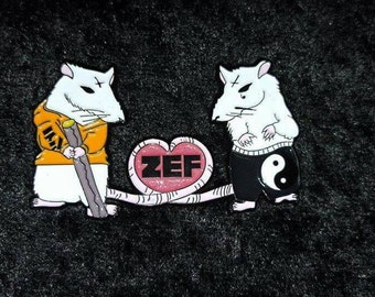 Zefside Rats Rule 23 hat pin Die Antwoord