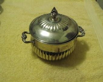 1950's Vintage Leonard Silverplated Bowl w/ Lid
