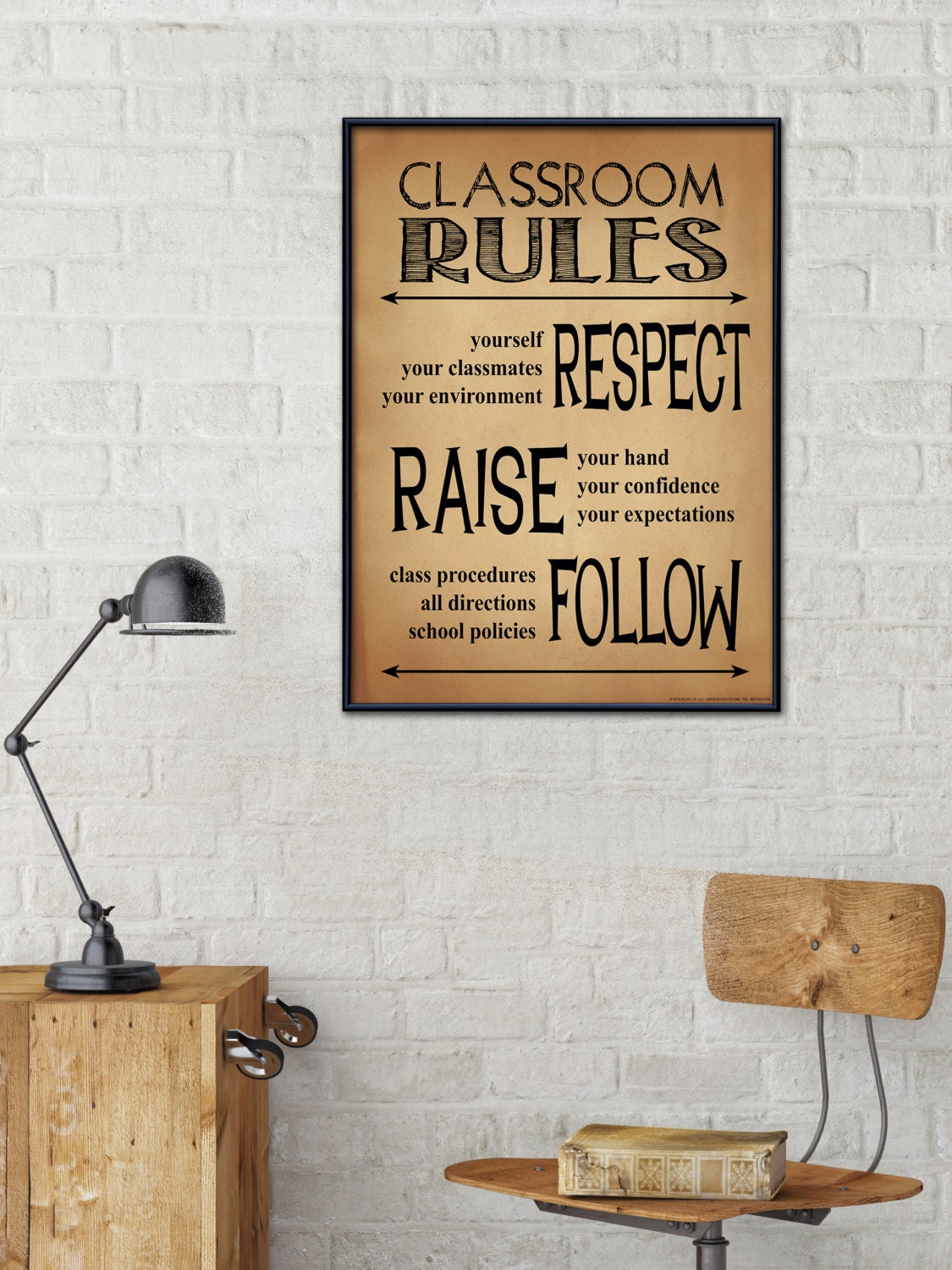 Minimalist Classroom Rules : Classroom rules personalized art print teacher gift for