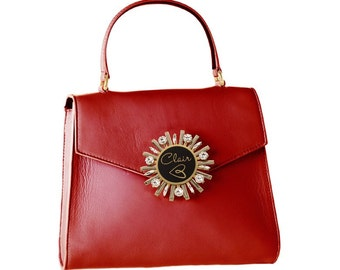 Small handbag genuine leather, Marilyn//made in Italy